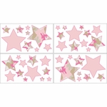Sweet JoJo Designs Camo Pink Wall Decals
