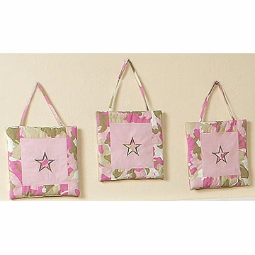 Sweet JoJo Designs Camo Pink Wall Hangings