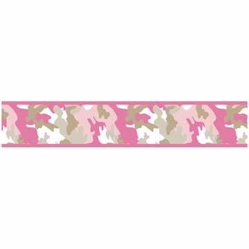 Sweet JoJo Designs Camo Pink Wallpaper Border