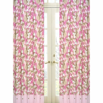 Sweet JoJo Designs Camo Pink Window Panels - Set of 2