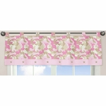 Sweet JoJo Designs Camo Pink Window Valance