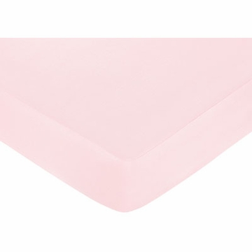 Sweet JoJo Designs Camo Solid Pink Crib Sheet
