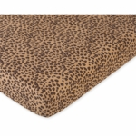 Sweet JoJo Designs Cheetah Girl Crib Sheet in Cheetah Print Microsuede
