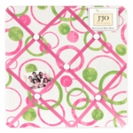 Sweet JoJo Designs Circles Pink Fabric Memo Board