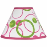 Sweet JoJo Designs Circles Pink Lamp Shade