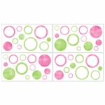 Sweet JoJo Designs Circles Pink Wall Decals