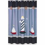 Sweet JoJo Designs Come Sail Away Shower Curtain