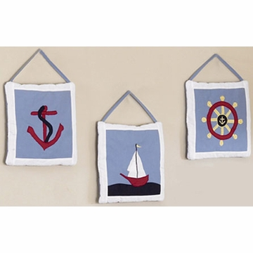Sweet JoJo Designs Come Sail Away Wall Hangings