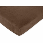 Sweet JoJo Designs Construction Zone Crib Sheet in Chocolate Microsuede
