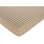 Sweet JoJo Designs Construction Zone Crib Sheet in Plaid Print