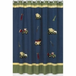 Sweet JoJo Designs Construction Zone Shower Curtain