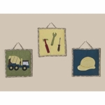 Sweet JoJo Designs Construction Zone Wall Hangings
