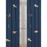 Sweet JoJo Designs Construction Zone Window Panels- Set of 2