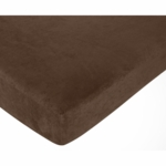Sweet JoJo Designs Cowgirl Crib Sheet in Solid Chocolate Microsuede