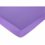 Sweet JoJo Designs Danielle's Daisies Crib Sheet in Solid Dark Purple