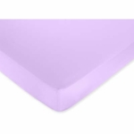 Sweet JoJo Designs Danielle's Daisies Crib Sheet in Solid Light Purple