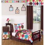 Sweet JoJo Designs Deco Dot 5 Piece Toddler Bedding Set