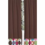 Sweet JoJo Designs Deco Dot Window Panels in Chocolate Brown- Set of 2