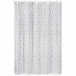 Sweet JoJo Designs Diamond Gray & White Shower Curtain
