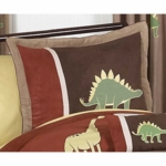 Sweet JoJo Designs Dinosaur Land Pillow Sham