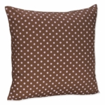Sweet JoJo Designs Dot Chocolate Pink Decorative Throw Pillow