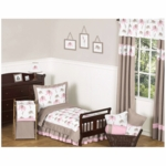 Sweet JoJo Designs Elephant Pink 5 Piece Toddler Bedding Set