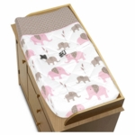 Sweet JoJo Designs Elephant Pink Changing Pad Cover