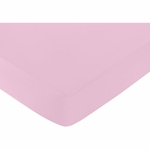 Sweet JoJo Designs Elizabeth Grey & Pink Crib Sheet - Solid Pink