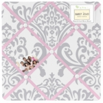 Sweet JoJo Designs Elizabeth Grey & Pink Fabric Memo Board