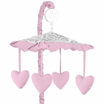 Sweet JoJo Designs Elizabeth Grey & Pink Musical Mobile
