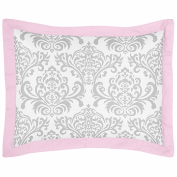 Sweet JoJo Designs Elizabeth Grey & Pink Pillow Sham