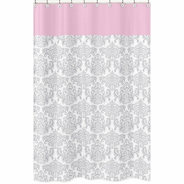 Sweet JoJo Designs Elizabeth Grey & Pink Shower Curtain