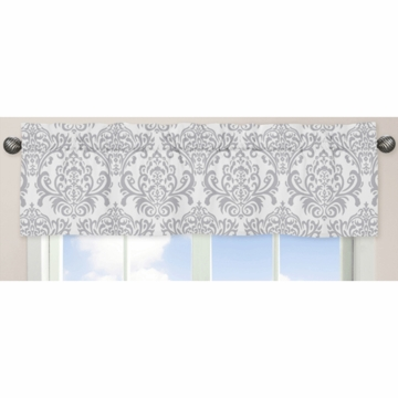 Sweet JoJo Designs Elizabeth Grey & Pink Window Valance