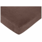 Sweet JoJo Designs Ethan Crib Sheet Espresso Brown Microsuede