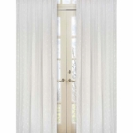 Sweet JoJo Designs Eyelet White Window Panels- Set of 2