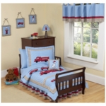 Sweet JoJo Designs Firetruck 5 Piece Toddler Bedding Set