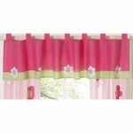 Sweet JoJo Designs Flower Pink and Green Window Valance