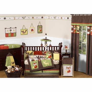 Sweet JoJo Designs Forest Friends 9 Piece Crib Bedding Set