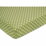 Sweet JoJo Designs Forest Friends Crib Sheet in Tonal Green Dot