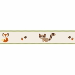 Sweet JoJo Designs Forest Friends Wall Border