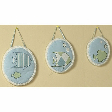 Sweet JoJo Designs Go Fish Wall Hangings