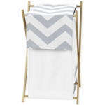 Sweet JoJo Designs Gray & White Chevron Hamper
