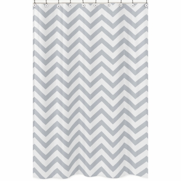 Sweet JoJo Designs Gray & White Chevron Shower Curtain