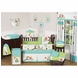Sweet JoJo Designs Hooty Turquoise & Lime 9 Piece Crib Bedding Set