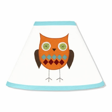 Sweet JoJo Designs Hooty Turquoise & Lime Lamp Shade