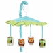 Sweet JoJo Designs Hooty Turquoise & Lime Musical Mobile