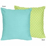 Sweet JoJo Designs Hooty Turquoise & Lime Throw Pillow