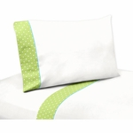Sweet JoJo Designs Hooty Turquoise & Lime Twin Sheet Set