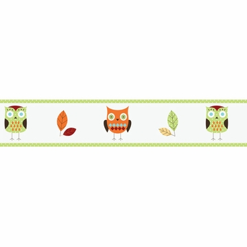 Sweet JoJo Designs Hooty Turquoise & Lime Wallpaper Border