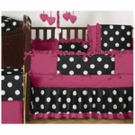Sweet JoJo Designs Hot Dot 9 Piece Crib Bedding Set
